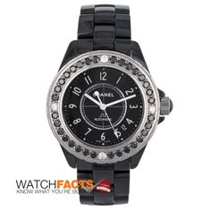 Chanel, Classic Black & Diamonds. We're sold! Recently Certified by WatchFacts