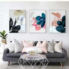 Colorful Leaf Wall Art Canvas Painting Cuadros Posters And Prints Nordic Poster . Colorful Leaf Wall Art Canvas Painting Cuadros Posters And Prints Nordic Poster Picture Wall Pictures For Living Room Unframed Leaf Wall Art, Metal Tree Wall Art, Framed Wall Art, Living Room Decor Pictures, Motif Art Deco, Room Wall Decor, Canvas Wall Art, Wall Pictures, Painting Pictures