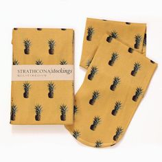 Strathcona Stockings Pineapple Printed Sock by StrathconaStockings