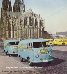 Volkswagen Transporter, Volkswagen Bus, Vw T1, Vw Kombi Van, Mazda Bongo, Busses, Cologne, Vintage Cars, Automobile