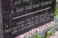 Gay Vietnam Vet's Last Words     ORIGINAL: The headstone in this photo is located in the Historic Congressional Cemetery in Washington, DC.