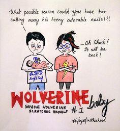 #joysofmotherhood: Wolverine Baby