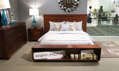 Angelo: HOME Chelsea Park Bedroom. Sengon solid wood finished in a gorgeous Macchiato finish.