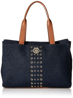 Tommy Hilfiger Denim Eyelet Tote Bag >>> You can get more details by clicking on the image.