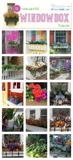 15 Wonderful Window Box Ideas - get the charming garden cottage look!