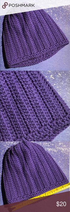 Purple beanie hat unisex adult or teen Purple beanie hat acrylic yarn Size 20 inches stretchy Hand crochet in a smoke and pet free environment This item is made and ready to ship yarn hot off the hook Accessories Hats Plus Fashion, Fashion Tips, Fashion Design, Fashion Trends, Yarn Sizes, Beanie Hats, Hand Crochet, Women Accessories, Environment