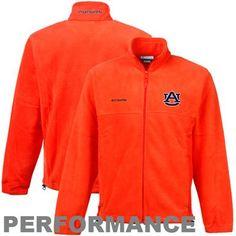 Columbia Auburn Tigers Flanker Full Zip Performance Fleece Jacket