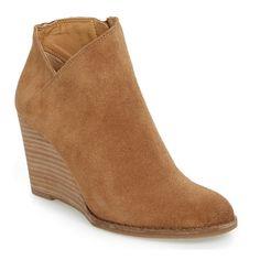 The Ten Best Wedge Heel Booties - #4 Lucky Brand Yakeena Zip Wedge Bootie #rankandstyle