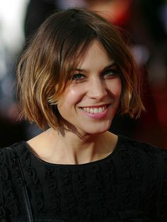 Alexa Chung - Perfect tussled finish for a natural looking bob