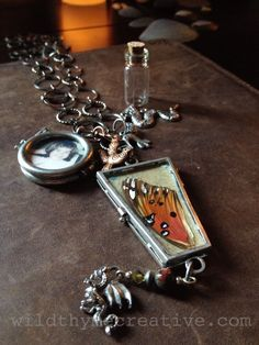 Reliquary necklace created by Betsy Cañas Garmon, with a beautiful post about the creative process behind it.  #handmade #jewelry