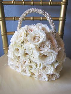 Floral purse for flower girl