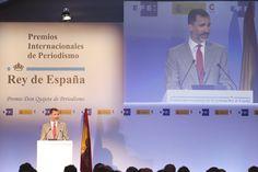 Su Majestad el Rey durante su intervención Casa del Lector. Madrid, 07.05.2015