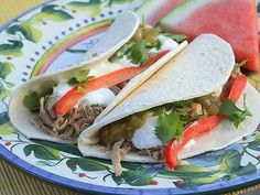 Slow Cooker Carnitas Tacos Recipe from Recipe Girl via Slow Cooker from Scratch