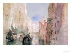 A Canal Near the Arsenale, Venice Impressão giclée por William Turner na AllPosters.com.br