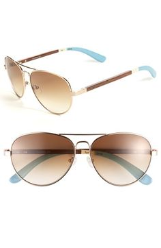TOMS 'Maverick' Aviator Sunglasses available at #Nordstrom