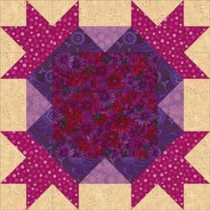 Use 16-Point Star blocks to sew quilts with lots of colorplay.