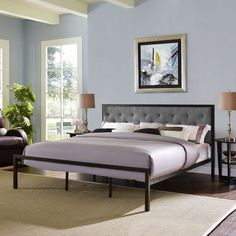 Found it at Joss & Main - Mia Upholstered Panel Bed
