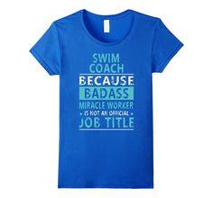 Swim Coach Job Title Shirt