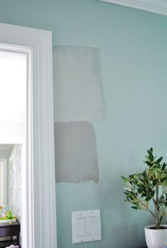 Paint colors - Gray Horse by Benjamin Moore on top, Rockport Gray by Benjamin Moore on bottom
