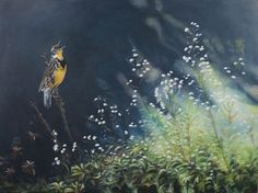 ARTFINDER: Meadowlark Music by Kristi Rauckis - This was a piece that was inspired by a few meadowlarks that serenaded myself and some friends while we were out on a trail ride in Colorado. They have such ...