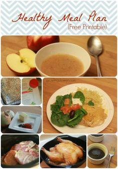 1 Week Healthy Meal Plan Free Printable