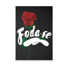 Poster Foda-se de Revolucion de Papel sobre colagem, rosa, type, rosas, design, tipografia, cartaz, frase, collage, frases, foda se, good vibe