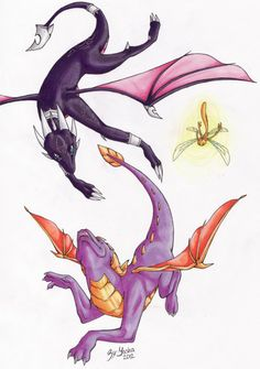 Spyro The Dragon Game, Spyro And Cynder, Dragon Tail, First Video Game, Video Games, Female Dragon, Childhood Games, Cool Dragons, Kid Icarus