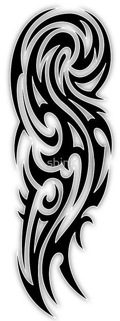 Tribal arm tattoo by sbink