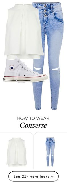 """Untitled #1371"" by anjaleea-malik on Polyvore featuring Converse"