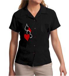 Poker Queen : Women's Retro Lounge Shirt
