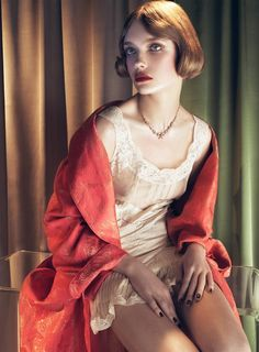 Natalia Vodianova photographed by Steven Meisel for Vogue Italia ('Dinner at 8'), May 2008.