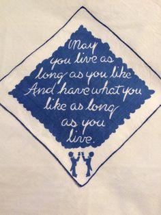 Vintage handkerchief, vintage hankie, Irish blessing, vintage butler, Art Deco, 1920's wedding, bridal table, retirement gift, altered art by three20sycamorelane on Etsy https://www.etsy.com/listing/267638743/vintage-handkerchief-vintage-hankie