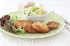 Kartoffelsalat mit Kohlrabischnitzel...