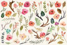 Watercolor flower DIY pack Vol.3 - Illustrations - 5