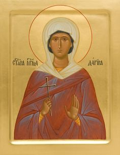Icon of St Daria of Rome - Hand-Painted Icon from the Workshop of St. Elisabeth Convent - To learn more about our Icon Painting Studio: Orthodox Catholic, Catholic Art, Religious Art, Monastery Icons, Divine Light, Byzantine Icons, Painting Studio, Art Icon, Orthodox Icons