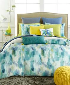 bluebellgray Cameron Comforter and Duvet Sets - Bedding Collections - Bed & Bath - Macy's Bridal and Wedding Registry Blue Comforter Sets, Twin Comforter Sets, Duvet Sets, Blue Bedding, Cheap Bed Linen, Bluebellgray, King Duvet Set, King Comforter, Queen Duvet
