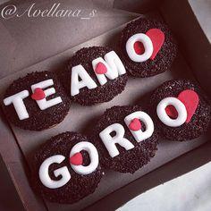 Cupcakes Te amo, Corazones, san valentin