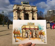 Arc de Triomphe du Carrousel ❤️ #París @urbansketchers #Sketches #SketchPassion #Dibujo #Draw #Drawing #SketchBook #Sketch_daily #Travel #Traveling #travelsketch #SketchingOnLocation #InSitu #urbansketching #urbansketchers #urbansketch #watercolor #acuarela #watercolorsketch #sketchoftheday #art #illustration #ilustracion #francia #arcdetriomphe #arcdetriompheducarrousel #arquitectura #architecture
