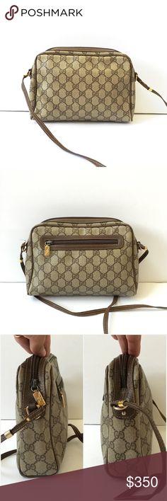 1a3826dce224 Signature Authentic Monogram Gucci Bag Signature canvas GG. Interior  pocket. Scrape on exterior front