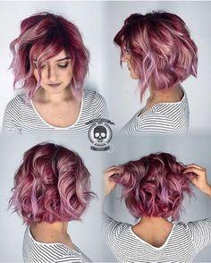 Berry blush!!!! Modeled by: @septemberskeleton #hairgod_zito #pulpriothair #brazilianbondbuilder