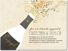 Bubble Blowout - Signature White Textured Engagement Party Invitations - Stacey Day - Umber - Brown : Front