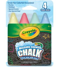 Crayola 4 ct Sidewalk ChalkCrayola 4 ct Sidewalk Chalk,