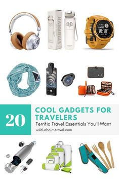 Looking for cool gadgets for travelers? Check-out my list of must-have travel items that will make your trips safer and more comfortable. Travel Items, Travel Gifts, Travel Rewards, Travel Products, Travel Deals, Gadgets Techniques, Best Travel Gadgets, Spy Gadgets, Electronics Gadgets