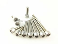 8.07$  Buy now - http://ali1gt.shopchina.info/go.php?t=32574008350 - 50pcs/Lot Metric Thread DIN912 M4x45mm M4*45 mm 304 Stainless Steel Hex Socket Head Cap Screw Bolts A2-70 8.07$ #buychinaproducts