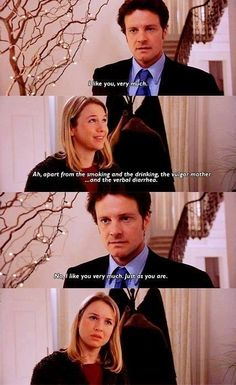 Colin Firth in Bridget Jones' Diary. Movies And Series, Movies And Tv Shows, Film Scene, Bridget Jones's Diary 2001, Citations Film, Favorite Movie Quotes, Movie Love Quotes, Romantic Movie Quotes, Romantic Couples