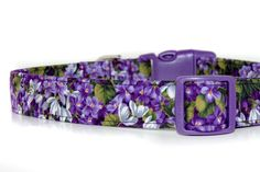 For Violet.  WisteriaPurple Floral Dog Collar by neckcandycollars on Etsy