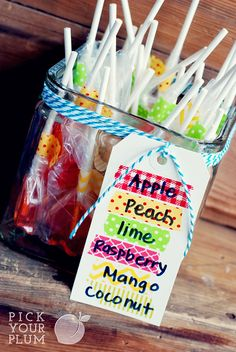 Such a cute idea! Use Bakers Twine and Washi Tape to label your treats for parties!