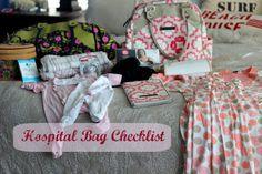 C-Section Overnight Hospital Bag Checklist