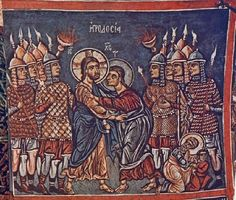 14th century wall painting, Church of Panagia Phorbiotissa, Asinou, Cyprus
