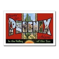 FAVE SO FAR!  Phoenix Arizona AZ Greetings Postcards (10)